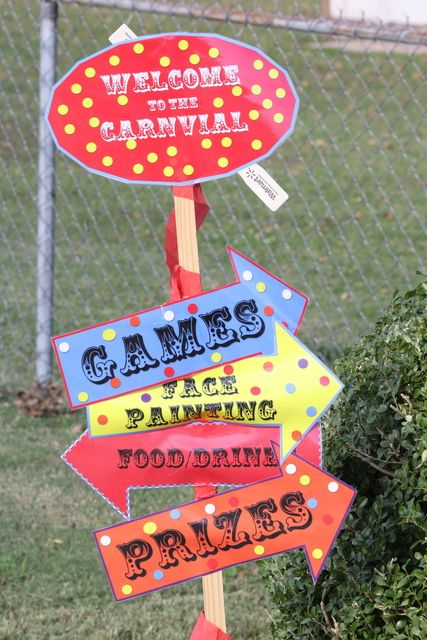 """Carnival Decorations...an idea for back to school """"field day"""""""