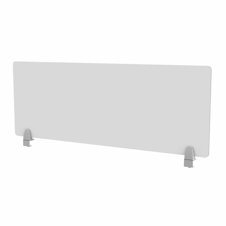 ENCLAVE PANEL - FROSTED ACRYLIC DESK DIVIDER: Available in several widths & heights : By Merge Works