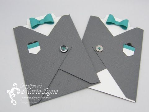 Carte Gilet - Planche Insta' Enveloppe Stampin'UP! http://jardindepapier.com/video-une-carte-masculine