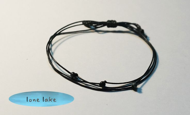 A personal favorite from my Etsy shop https://www.etsy.com/listing/232006469/black-wax-cord-bracelet-japanese-glass