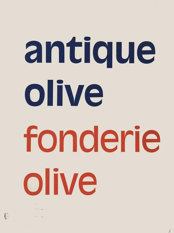 Antique Olive, à la recherche de la typographie idéale