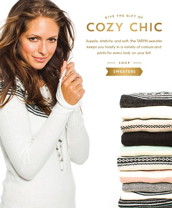 Sweaters are on everyone's wish list this season!