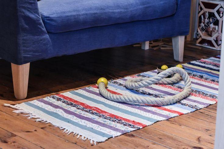 Swedish vintage rag rug 0869 - Rugs of Sweden