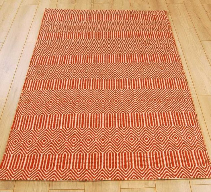 Sloan Orange Rugs   Modern Rugs