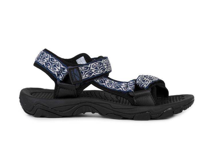 Numero Uno Pánské sportovní sandály s pásky GS09-S089 / šedo-modrá
