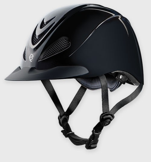 Troxel's new Liberty in classic black with an ultra low profile design and a classic high gloss finish created for schooling and all-purpose riding. $54.95!
