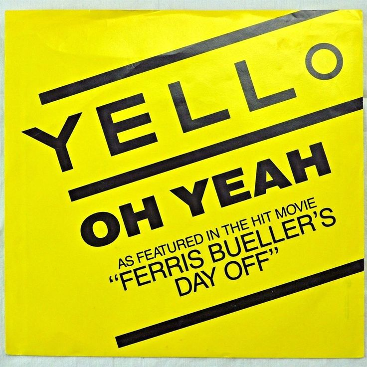 Yello Oh Yeah Ferris Buellers Day Off 7in Vinyl 45 Record 1986 Mercury USA #ElectronicaHouse