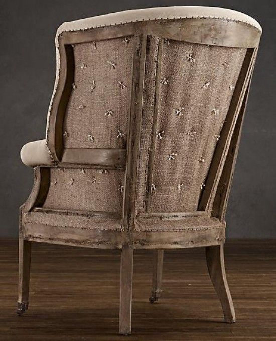 Deconstructed (instead of whole thing reupholstered) 19th C. English Wing Chair