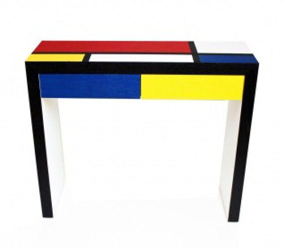 Modernistyczna konsola inspirowana sztuką Mondrian