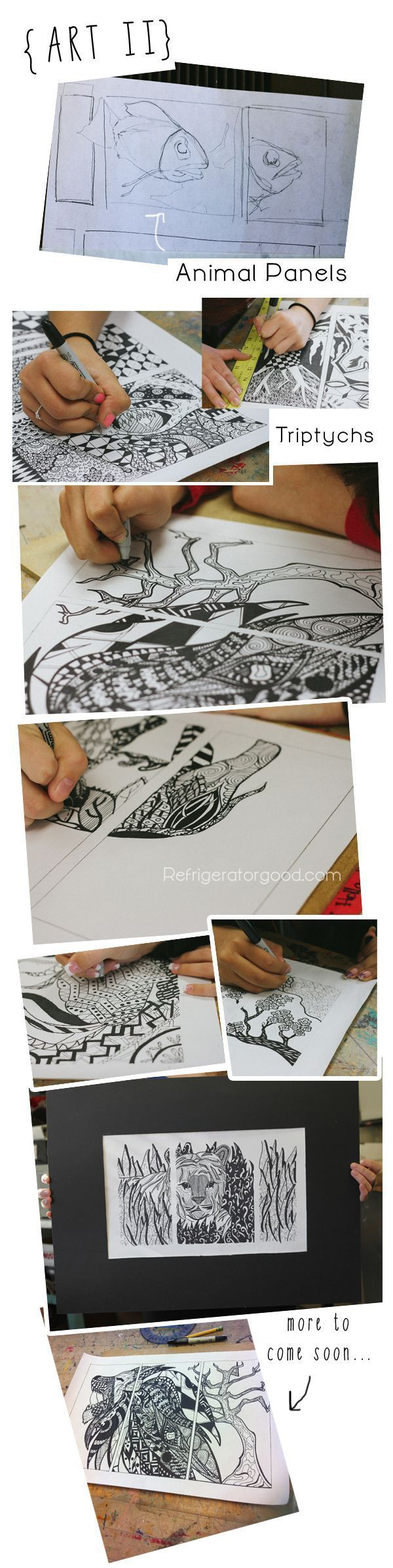 Penny Smith's World: High School Art Lesson: Zentangle Designs: Line