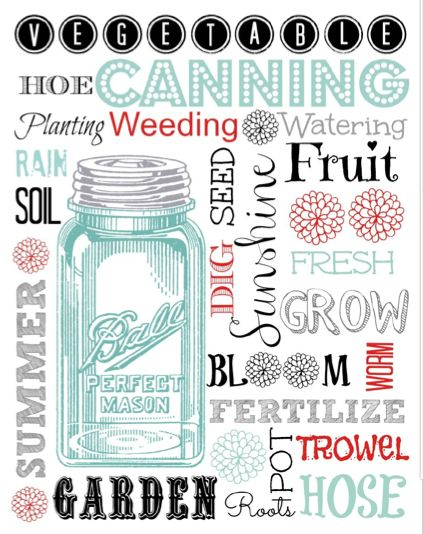 #masonjar free printable #summer #garden from Shasta29, featured @printabledecor1