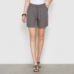 Peachskin Feel Microfibre Shorts with Detachable Belt ANNE WEYBURN