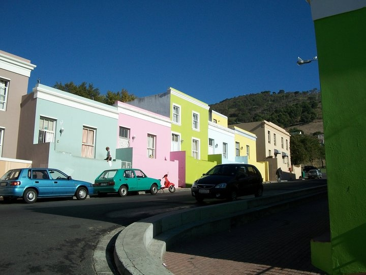 The colorful houses district..lol