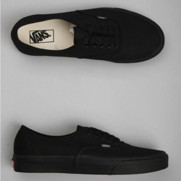 Black Vans, Women's 7 Black new authentic vans! Brand new but no box.. Was given during a job but was the incorrect size. Vans Shoes Sneakers