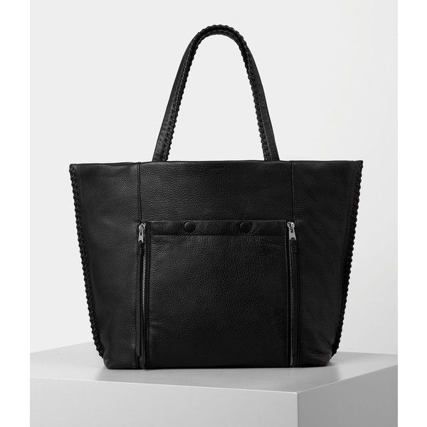 AllSaints Fleur De Lis East West Tote (775 BRL) ❤ liked on Polyvore featuring bags, handbags, tote bags, black, purse tote, man tote bag, fleur de lis handbags, fleur de lis purse and tote hand bags