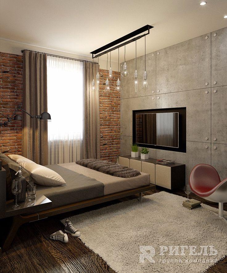 Дизайн двухкомнатной квартиры в стиле лофт от #rigelgroup! Площадь: 57 м2 Другие наши проекты и информация о дизайне интерьеров и ремонте: http://www.rigelgroup.ru/dizayn-interera/ Изначально квартира имела свободную перепланировку, поэтому мы детально проанализировали пожелания хозяйки квартиры и установили ряд перегородок для формирования спальной комнаты, гостиной, кухни и двух санузлов. Кухню и гостиную было решено объединить. Для разграничения этих зон мы использовали практичный…