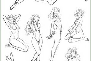 How to draw Pin Up - Poses