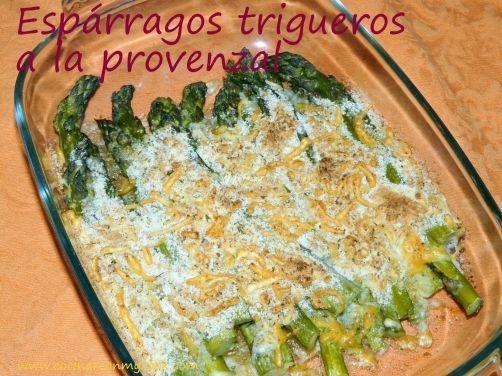 Espárragos trigueros a la provenzal. para #Mycook http://www.mycook.es/receta/esparragos-trigueros-a-la-provenzal/
