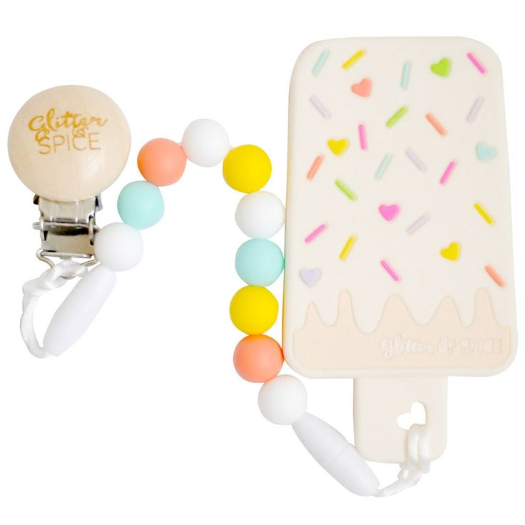 Glitter & Spice - Ice Cream Bar Teether w/ Clip