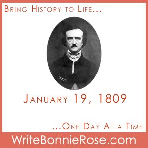 FREE Timeline Worksheet: Today we remember the birthday of Edgar Allan Poe, born January 19, 1809, in Boston. Our timeline worksheet is a special printable packet of information about the author, a timeline worksheet of important events in his life, and a notebooking page for additional research. - WriteBonnieRose.com