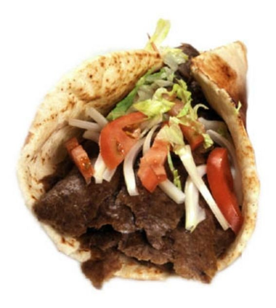 Donair Recipe - My boyfriend makes these, but with all beef and no lettuce.  Delicious!