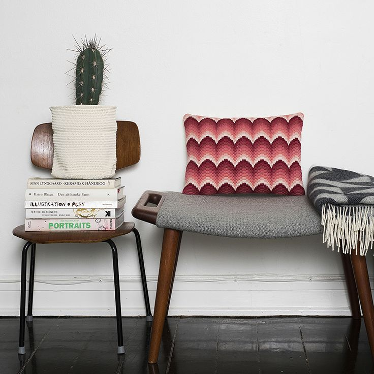 DIY Bargello/ Long Stitch cushion designed and styled by Tine Wessel - The Needle has a Point - for Oehlenschläger Denmark. Photo by: P. Wessel