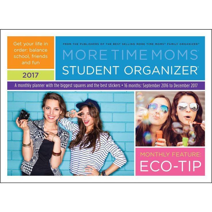 Student Organizer Wall Calendar: Fabulous for all students!