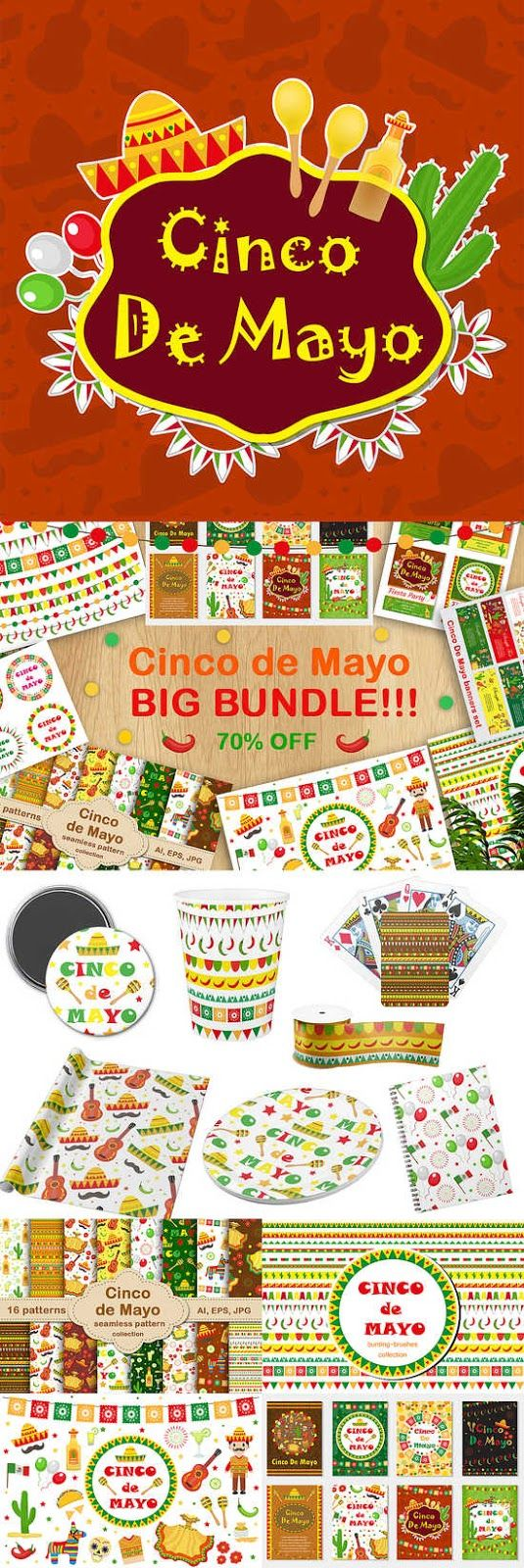 40 best cinco de mayo images on pinterest graphics mexican all for graphics and design cinco de mayo big bundle kristyandbryce Gallery