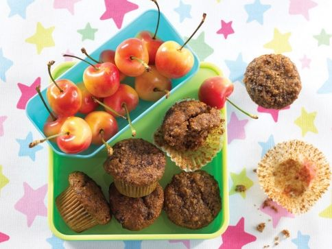 Banana Muffins Really easy, moist and yummy. I did a double batch as we had bananas that needed using and it made 12 normal sized muffins. Took them to playgroup and they all disappeared :) Nic