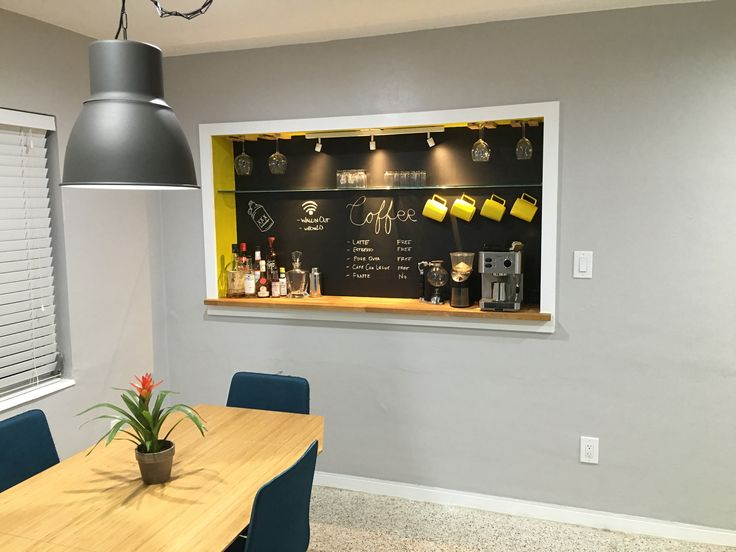 Built-in coffee bar