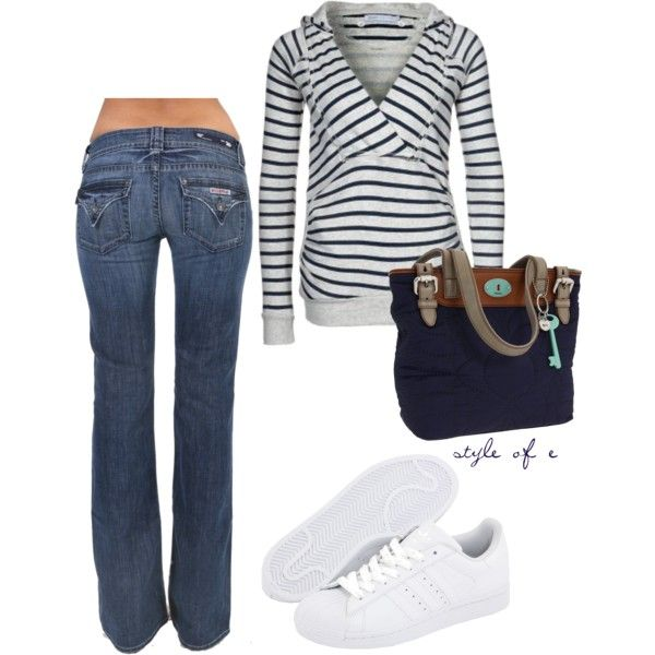 Weekend Casual, created by styleofe: Casual Friday, Gifts Cards, Dreams Closet, Sweat Shirts, Cute Sweaters, Weekend Casual, Casual Outfits, Tennis Shoes, My Style