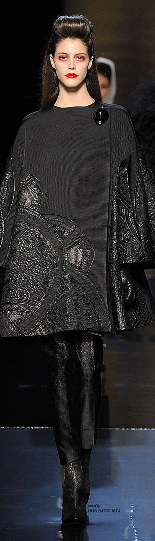 Jean Paul Gaultier Haute Couture Fall 2014. The applique could be leather, metal, painted fabric, tyvek - experiment!