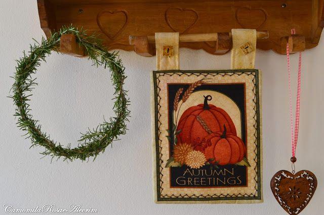 CamomilaRosa e Alecrim: Bem vindo ao clima e aromas de outono aqui de casa...