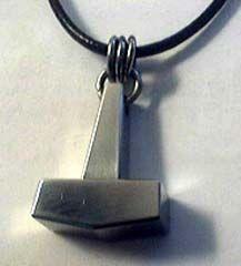 Modern Thor Hammer Pendant