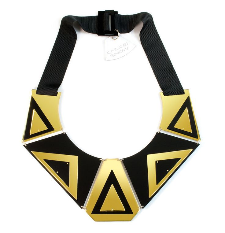 Abstract Necklace - Geometric Jewellery Collection by Chloe Snow