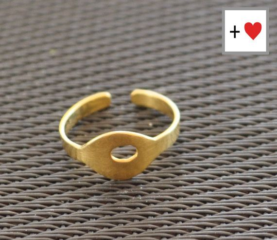 Oval Ring gold plated band ring statement by PlusLoveStudio - 28.75euro