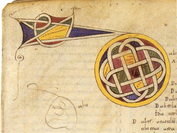 Capitular Letter D        Códice Emilianense 46  (letras capitulares)     Real Academia de la Historia- www.valleNajerilla.com