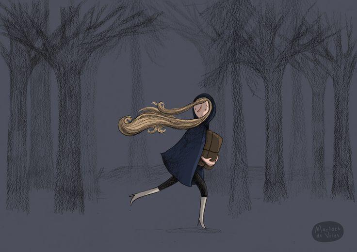 Illustration friday: Secret by Marloes de Vries