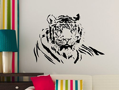 Tiger Wall Stickers, Tiger Wall Decal, Cat Wall Decals (M..