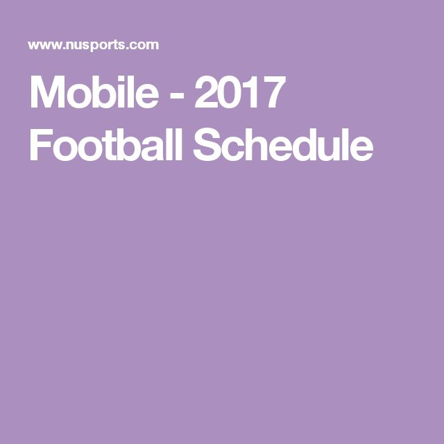 Mobile - 2017 Football Schedule