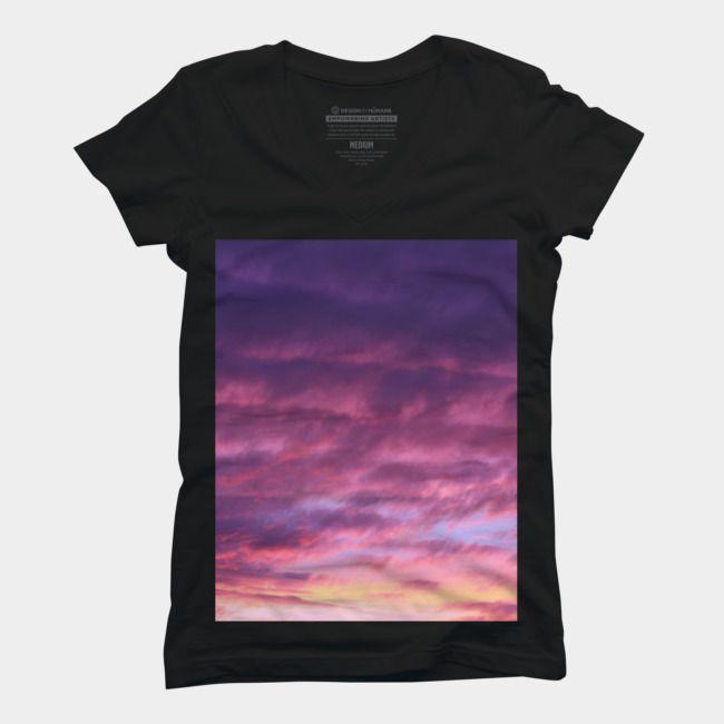 Pink Sunset T Shirt Beach T Shirts Galaxy T Shirt Sky T