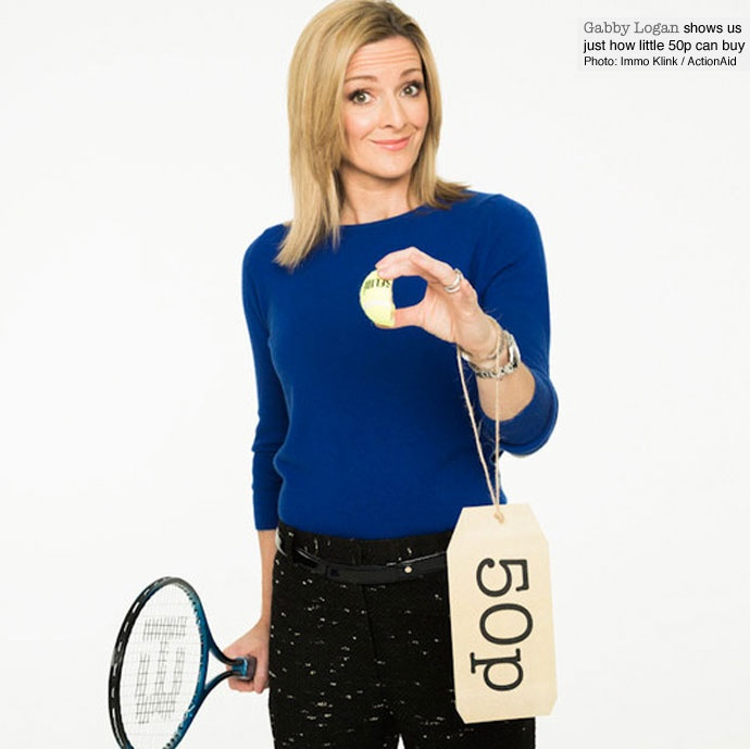 Gabby Logan supports our child sponsorship week campaign.