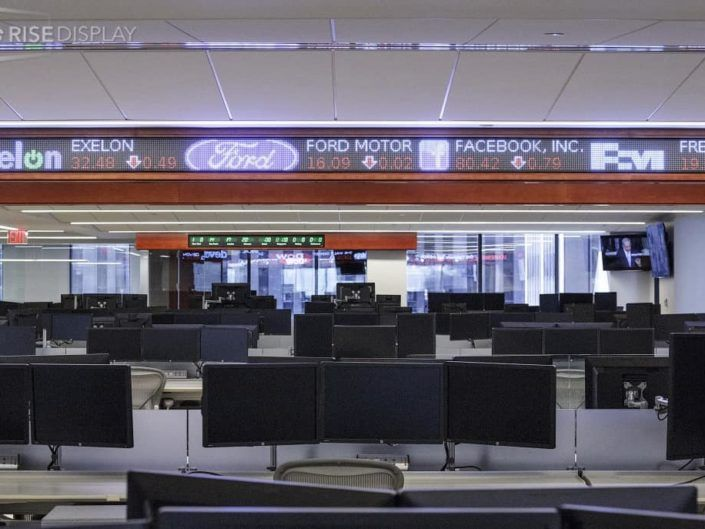 24 pixel LED stock ticker