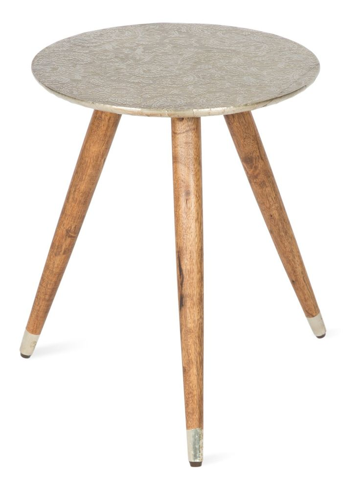 Antique carved, wood infused stool, natural