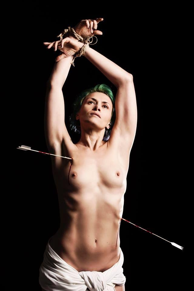 """""""S.SEBASTIANO"""" from Caravaggio photo by Dario Scaramuzzino model Adele Ceraudo"""