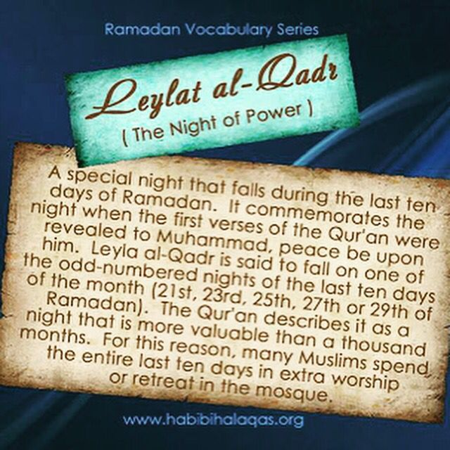 SURAH AL-QADR (97)----- Verily! We have sent it (this Qur'an) down in the night of Al-Qadr (Decree) And what will make you know what the night of Al-Qadr (Decree) is? The night of Al-Qadr (Decree) is better than a thousand months (i.e. worshipping Allah in that night is better than worshipping Him a thousand months, i.e. 83 years and 4 months). Therein descend the angels and the Ruh [Jibrael (Gabriel)] by Allah's Permission with all Decrees, Peace!