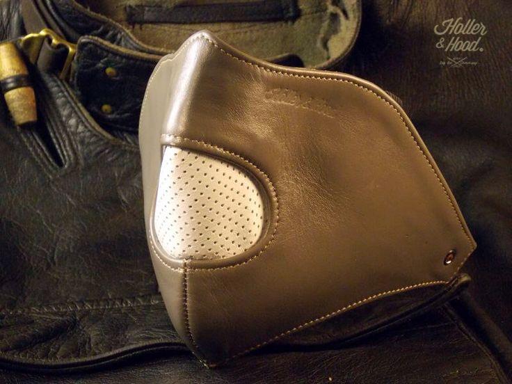 Holler&hood Thunderbird hog nose.Masque Moto en Cuir Confortable/cafe racer/hotrod/ Motorcycle Riding Leather Mask . Built for speed !! by HollerandHood on Etsy https://www.etsy.com/listing/188103387/hollerhood-thunderbird-hog-nosemasque