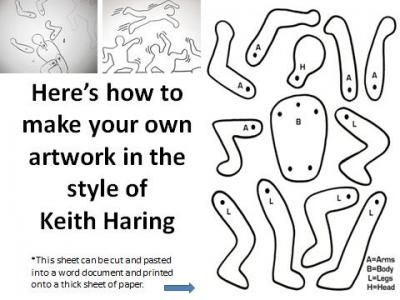 Keith haring art project pintores pinterest aulas for Keith haring figure templates