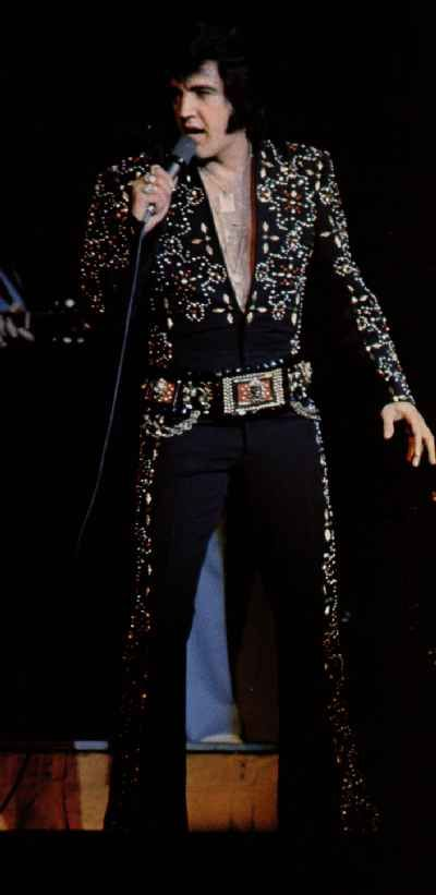 Elvis black jumpsuit from the Hawaiian concert in November 1972