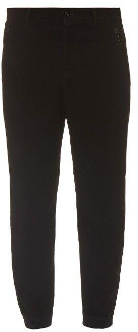 ALEXANDER MCQUEEN Chunky-zip crepe track pants